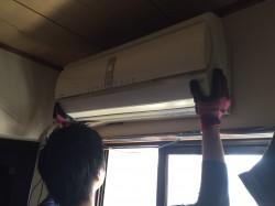 住之江区のマンションでエアコンを無料取り外し無料回収!