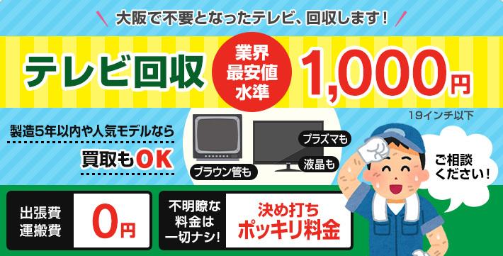 大阪市テレビ引取り回収処分