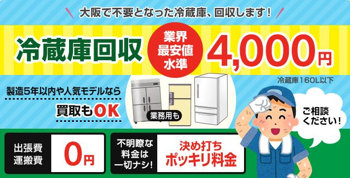 大阪市冷蔵庫引取り回収処分