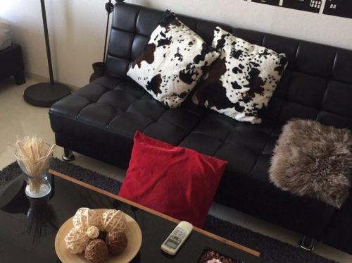 ソファーと雑貨類がとてもおしゃれですね