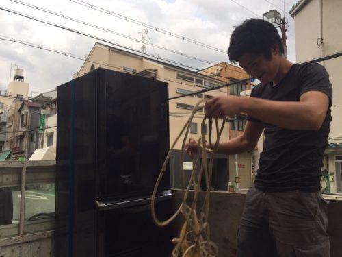 民泊で使用していた2012年製の大型冷蔵庫を買取してきました。
