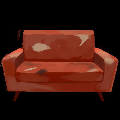 今回は、壊れたソファーのイラストを使用しました。