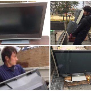 テレビの買取強化中!住之江区にて大型TV回収