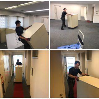 淀川区にて、事務所移転後の不用品回収