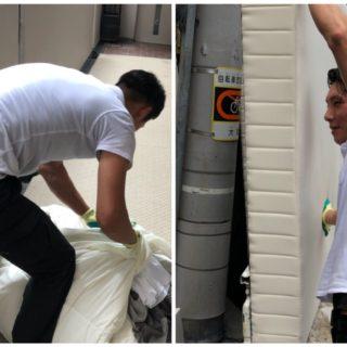 寝具の様々な処分方法と、中央区にて民泊撤退における回収作業
