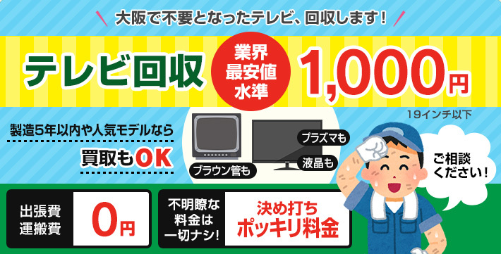 テレビ・モニター回収