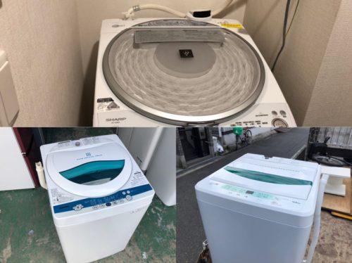 洗濯機の取り外しをする際の注意事項