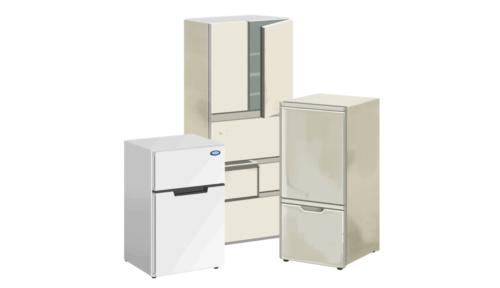西区にて、大型冷蔵庫回収